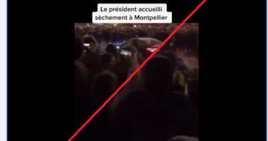 Ne, v autě na které létají sněhové koule není Emanuel Macron