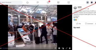 Ne, muž ve videu neničí automat kontrolující covidpassy